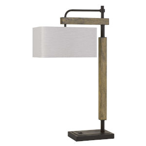 Alloa Bronze and Natural One-Light Desk lamp
