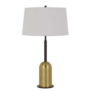 Rimini Black and Antique Brass One-Light Table lamp