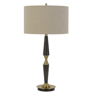 Pescara Antique Brass and Expresso One-Light Table lamp