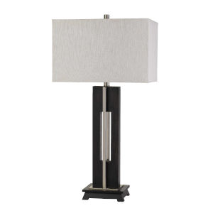 Glenview Black and White One-Light Table lamp