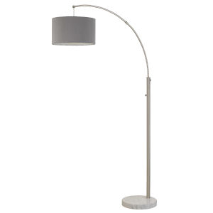 Lyndon Brushed Steel One-Light Floor Lamp