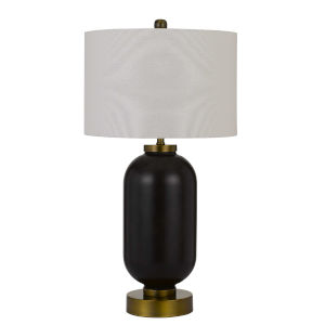 Sycamore Antique Brass and Black One-Light Table lamp