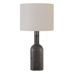 Ravenna Gray and White One-Light Table lamp