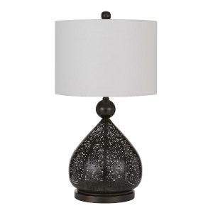 Milton Dark Bronze One-Light Table lamp