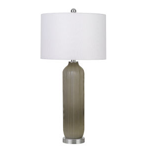 Catalina Gray and White One-Light Table lamp
