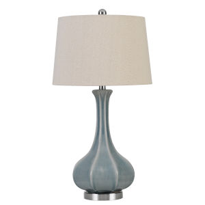 Zaire Blue and White One-Light Table lamp