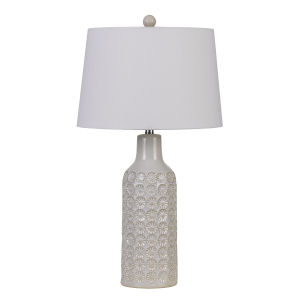 Regina Gray and White One-Light Table lamp