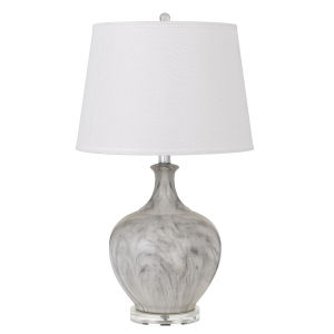 Harlingen Gray and White One-Light Table lamp