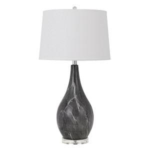 Emden Black and White One-Light Table lamp
