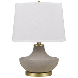 Almelo Gray and White One-Light Table lamp