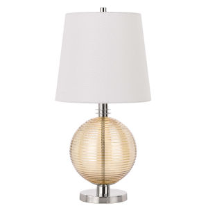 Salisbury Brushed steel Amber LED Table Lamp