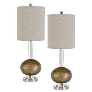 Sudbury Light Bronze Two-Light LED Table Lamp, Set of Two
