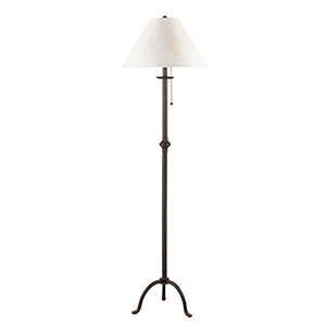 Iron Black One-Light Floor Lamp