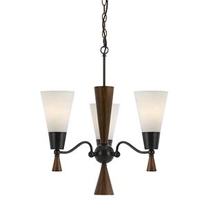 Verona Mahogany Three-Light Chandelier