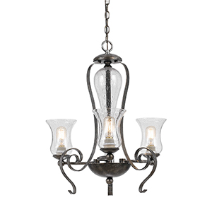 Metal Eternity Three-Light Chandelier