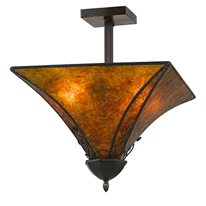 Mica  Two-Light Flush Mount