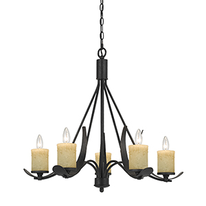 Morelis Blacksmith Five-Light Chandelier