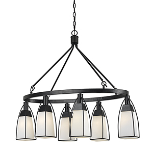 Channing Black Six-Light Chandelier