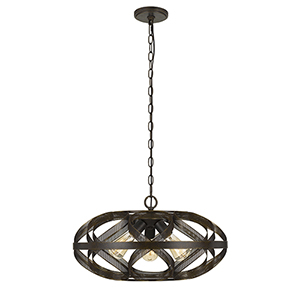 Alma Dark Bronze Three-Light Pendant