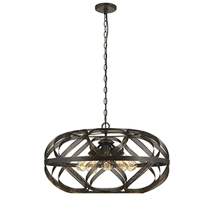 Dark Bronze Five-Light Pendant
