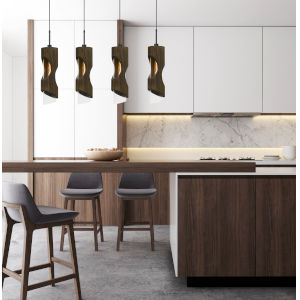 Zamora Smoky Wood Four-Light Pendant