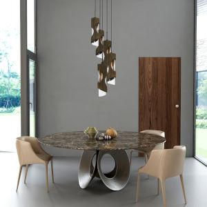 Zamora Smoky Wood Five-Light Pendant