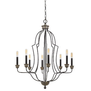 Lebrija Textured Bronze Eight-Light Chandelier