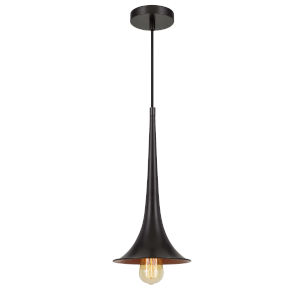 Latsia Matte Black One-Light Mini Pendant