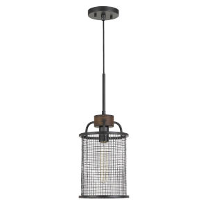 Aberdeen Bronze and Natural One-Light Mini Pendant