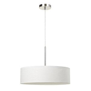 White and Chrome LED Pendant