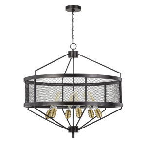 Halle Black Six-Light Chandelier