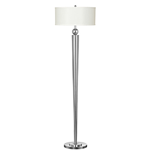 Hotel Chrome One-Light Floor Lamp