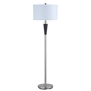 Hotel Brushed Steel 61-Inch One-Light Floor Lamp