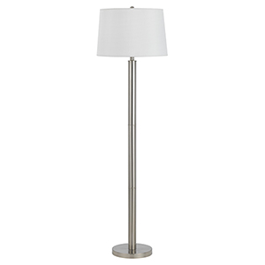 Hotel Brushed Steel 60-Inch One-Light Floor Lamp