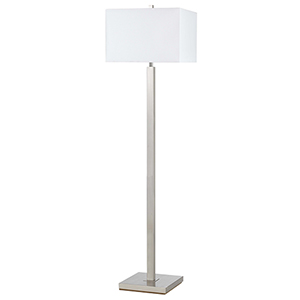 Brushed Steel 61-Inch One-Light Floor Lamp