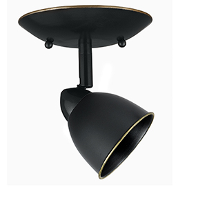 Serpentine Dark Bronze One-Light Halogen Plug In Semi Flush Mount