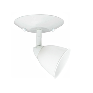 Serpentine White One-Light Halogen Plug In Semi Flush Mount with Shade