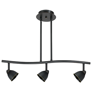 Serpentine Dark Bronze Three-Light Halogen Track Light