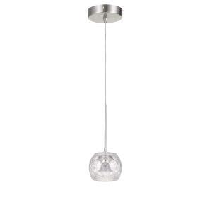 Ithaca Brushed Steel LED Mini Pendant