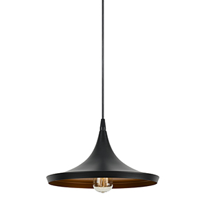 Mica Black One-Light Pendant