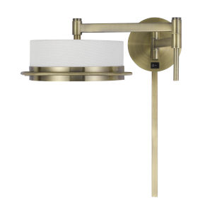Sarnen Antique Brass LED Swing Arm Wall lamp