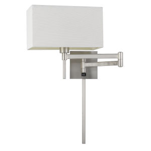 Robson Brushed Steel One-Light Swing Arm Wall lamp