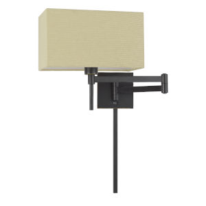 Robson Dark Bronze One-Light Swing Arm Wall lamp