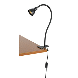 Dark Bronze One-Light Clip-on LED Desk Lamp