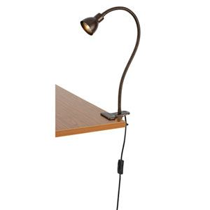 Rust One-Light Clip-on LED Desk Lamp