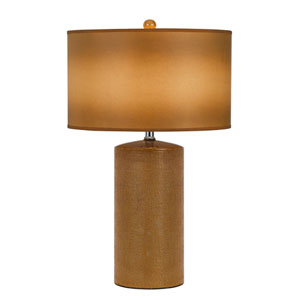 Brown Two-Light Eighteen-Inch Table Lamp