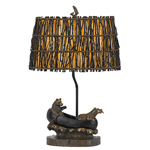Antique Bronze 27-Inch One-Light Table Lamp