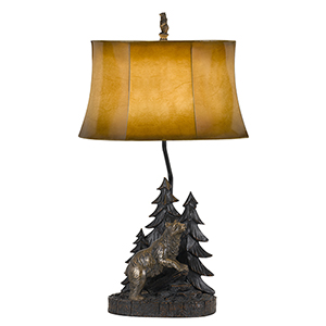 Antique Bronze 29-Inch One-Light Forest Table Lamp