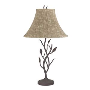 Matte Black Branch Table Lamp