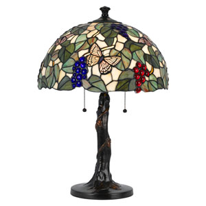 Two-Light Tiffany Table Lamp